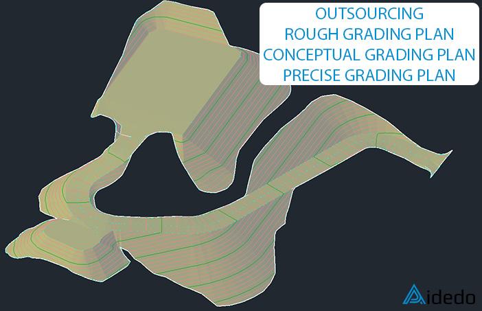 OUTSOURCING ROUGH/CONCEPTUAL/PRECISE GRADING PLAN